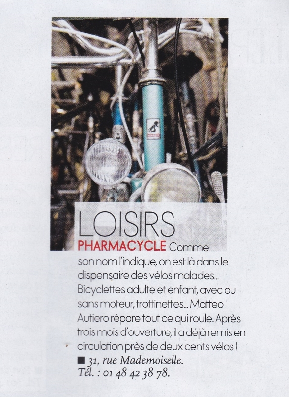 Article Elle Pharmacycle